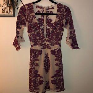 Barely used for love & lemons purple mini dress XS